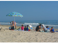 No school! Nothing better than a summer day at Santa Claus Lane beach!