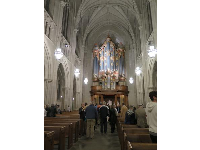 Nave of the chapel before an organ recital.