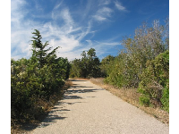 The wide path near La Patera Rd.
