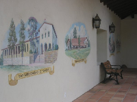 Murals of the California missions.