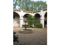 The Spanish fountain inside the courtyard.