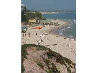 View of Campus Point Beach from the bluffs trail.