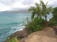 Looking out toward Maunalua Bay, from Portlock Point.
