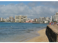 For a really long walk, start this walk at the promenade in front of the Waikiki Aquarium.