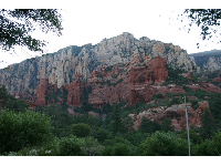View of Oak Creek Canyon on the walk back from Slide Rock.