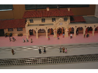 Model of Santa Barbara Railroad Depot- see the lovely Spanish architecture.