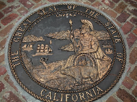 The great seal of the state of California. Photo courtesy of William Crowe.
