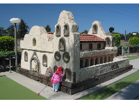 San Buenaventura Mission from the side.