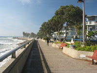 The wonderful promenade beside the sea.