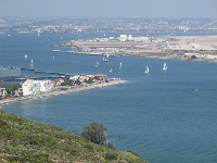 Watch the sailboats leaving San Diego Bay.