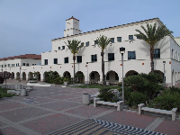 Clocktower and attractive, open area on SDSU campus.