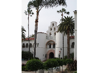 Hepner Hall with its campanario that appears on the SDSU logo.