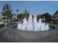 Fountain at Rotary Park, a fun area.