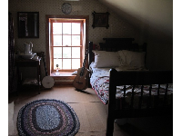 One of the children's bedrooms on the upper level of the lighthouse- what a view!