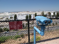Blue telescope at LAX Lookout Point.