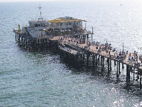View of the tip of the pier, from the ferris wheel.