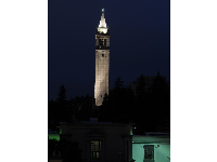The Campanile at night. Magic! It was built to look like the Piazza San Marco in Venice.