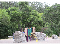 Playground in the park outside Little Farm.