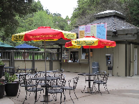 The snack bar, which is open from May to September.