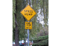 In the neighborhood near Codornices Park: Berkeley has speed humps not speed bumps!!