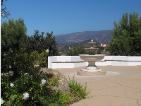 Fountain and views.