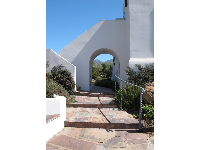 Steps and archway.