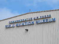 The hangar where the museum is located.
