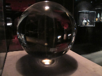 One of the world's largest real crystal balls. 65 pounds. Flawless.