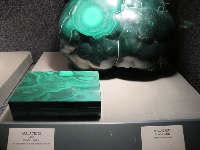 Malachite from Zaire, in the Gem and Mineral Collection.