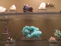 The Los Angeles Natural History Museum has the most wonderful displays of minerals.