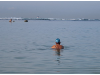 Ala Moana Beach is very popular with early morning lap swimmers.