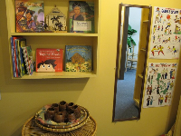Filipino children's books in the Phillipines house.