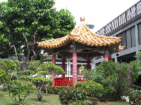 The Chinese gazebo (also pictured in the article).