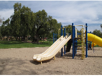 The old metal playground.