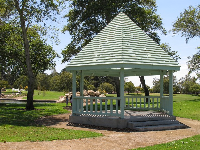 The pretty gazebo.