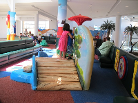 Padded play area for kids.
