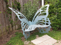 Butterfly bench in the kid's garden.