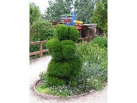Rabbit topiary.