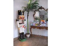 The lobby with giant nutcracker.