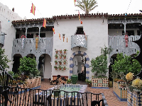 Inner courtyard at El Andaluz.