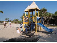 The playground by the lagoon side of the park.