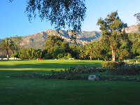 The rose garden and lovely mountains behind!