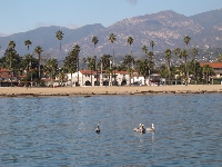 Cabrillo Blvd, as seen from harbor.