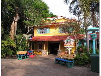 Colorful building at Animal Kingdom.