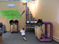 Music area of the Children's Science Explorium, in the park, and free!