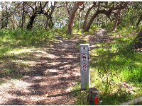 "The ""wildlife protection"" marker will help you find the trailhead."