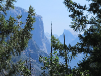 Gorgeous view of El Capitan from a lookout just before Tunnel View Lookout.