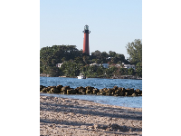 Sweet view of Jupiter lighthouse from the inlet side of the park.