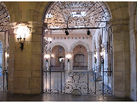 Ironwork and archways.