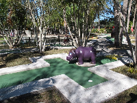 Mini-golf course.